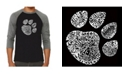LA Pop Art Cat Paw Men's Raglan Word Art T-shirt