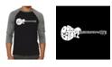 LA Pop Art Don't Stop Believing Men's Raglan Word Art T-shirt
