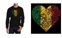 LA Pop Art Men's Word Art One Love Heart Crewneck Sweatshirt