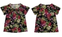 Style & Co Plus Size Printed Pleat-Neck Top, Created for Macy's