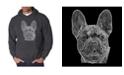 LA Pop Art Men's Word Art Hooded Sweatshirt - French Bulldog
