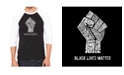LA Pop Art Men's Raglan Word Art T-shirt - Black Lives Matter