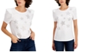 INC International Concepts INC Star-Print Puff-Sleeve T-Shirt, Created for Macy's