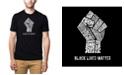 LA Pop Art Men's Premium Word Art Black Lives Matter T-shirt