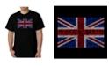 LA Pop Art Men's God Save The Queen Word Art T-Shirt