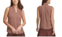 Tommy Hilfiger Printed Button-Down V-Neck Top
