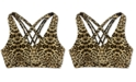 Ideology Leopard Print Low-Impact Sports Bra, Created for Macy's