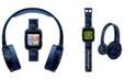 iTouch Kid's Playzoom Blue Camouflage Print Tpu Strap Smart Watch with Headphones Set 41mm