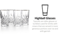 Godinger Dublin Platinum Highball Glasses, Set of 4
