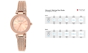 Anne Klein Women's Swarovski Crystal-Accented Rose Gold-Tone Stainless Steel Mesh Bracelet Watch 30mm AK-1906RGRG