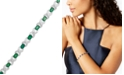 Macy's Emerald (7 ct. t.w.) and Diamond Accent XO Bracelet in Sterling Silver (also in Ruby and Sapphire)
