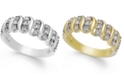 "Victoria Townsend Rose-Cut Diamond ""S"" Ring in 18k Gold Over Sterling Silver or Sterling Silver (1/4 ct. t.w.)"