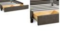 Furniture Upholstered Caprice Granite California King Storage Base