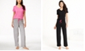 Hue Basics V-Neck Solid Pajama Top & Matching Pants Collection