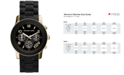 Michael Kors Women's Chronograph Runway Gold-Tone Stainless Steel and Black Polyurethane Bracelet Watch 38mm MK5191