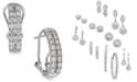 Macy's Diamond Two-Row Hoop Earrings (1 ct. t.w.) in 14k White Gold