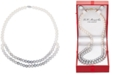 Macy's Cultured Freshwater Pearl (7mm) Gray Ombré Double Strand Necklace in 14k White Gold