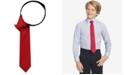 Tommy Hilfiger Solid Twill Zipper Tie, Big Boys