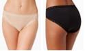 Natori Bliss Lace-Trim Cotton French-Cut Brief Underwear 152058