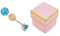Macy's Children's Cubic Zirconia December Birthday Reversible Earrings in 14k Gold