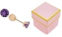 Macy's Children's Cubic Zirconia February Birthday Reversible Earrings in 14k Gold