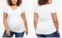 Motherhood Maternity Plus Size V-Neck T-Shirt
