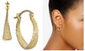 Macy's Textured Hoop Earrings in 10k Gold