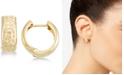Macy's Textured Wide Huggie Hoop Earrings