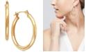 Macy's Polished Tube Hoop Earrings in 10k Gold, 4/5 inch