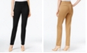 Charter Club Petite Cambridge Tummy-Control Ponte Slim-Leg Pants, Created for Macy's