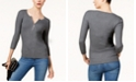 INC International Concepts I.N.C. Zip-Front Sweater, Created for Macy's