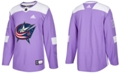 adidas Men's Columbus Blue Jackets Authentic Hockey Fights Cancer Jersey
