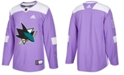 adidas Men's San Jose Sharks Authentic Hockey Fights Cancer Jersey