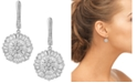 Macy's Cubic Zirconia Baguette Snowflake Drop Earrings in Sterling Silver