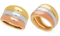 Italian Gold Tri-Color Band Statement Ring in 14k Gold