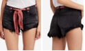 Free People Sashed & Relaxed Cotton Denim Cutoff Shorts
