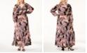 ECI Plus Size Paisley-Print Maxi Dress