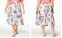 Tommy Hilfiger Plus Size Cotton Floral-Print Skirt, Created for Macy's