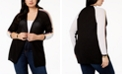 Belldini Plus Size Striped Open-Front Cardigan