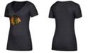 adidas Women's Chicago Blackhawks Distressed Logo T-Shirt