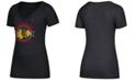 adidas Women's Chicago Blackhawks Banner Dazzle T-Shirt