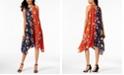 John Paul Richard Petite Twin-Print Keyhole Midi Dress