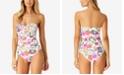 Anne Cole Fleetwood Floral-Print Twist Bandeau One-Piece Swimsuit