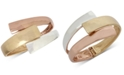 Robert Lee Morris Soho Tri-Tone Bypass Bangle Bracelet