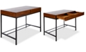 Noble House Morgan Industrial Acacia Wood Storage Desk with Rustic Metal Iron Accents