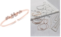 Wrapped Diamond Butterfly Flexie Bangle Bracelet (1/6 ct. t.w.) in 14k Rose Gold-Plated Sterling Silver, Created for Macy's