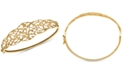 Italian Gold Openwork Vine Bangle Bracelet in 10k Gold