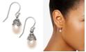 Macy's Cultured Freshwater Pearl (8mm) Drop Earrings in Sterling Silver