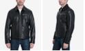Michael Kors Men's Big & Tall James Dean Leather Jacket, Created for Macy's