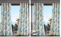 "Madison Park Laguna 54"" x 84"" Grommets Printed Medallion 3M Scotchgard Outdoor Panel"